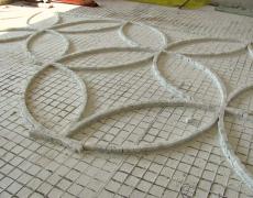 Mosaico in cubetti di marmo di Carrara